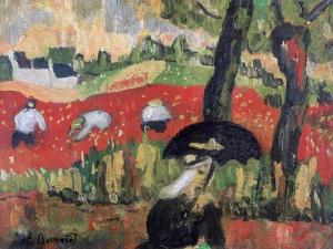 The Red Field, Pont Aven, C1887 by Emile Bernard