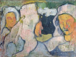 Three Breton Women in Widow's Bonnets by Emile Bernard