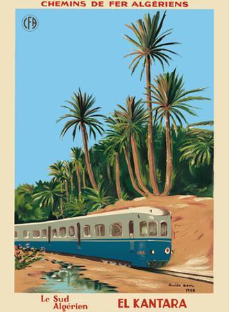 El Kantara - Southern Algeria - Chemins de Fer Algeriens, Algerian Railways by Emile Bon