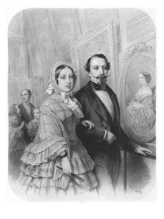 Queen Victoria and Napoleon III Emperor of France, Visiting the Art Gallery in Paris