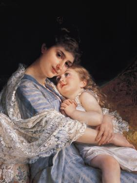 Maternal Affection by Emile Munier