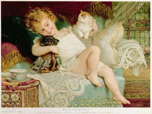 Playmates, from the Pears Annual, 1903 by Emile Munier