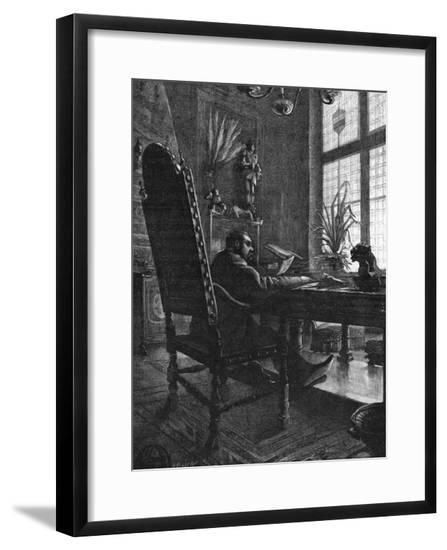 Emile Zola at Work--Framed Giclee Print