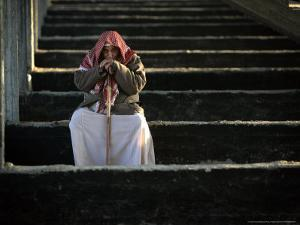 A Palestinian Man at a Soccer Stadium in Gaza City, October 23, 2006 by Emilio Morenatti