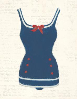 Retro Swimwear I Newsprint by Emily Adams