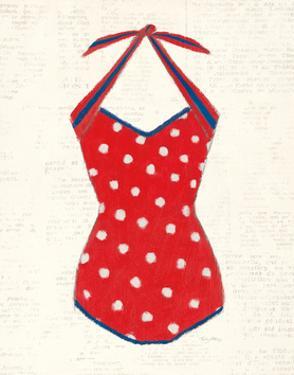 Retro Swimwear II Newsprint by Emily Adams