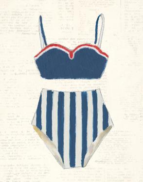 Retro Swimwear III Newsprint by Emily Adams