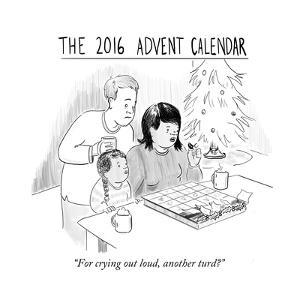 """""""For crying out loud, another turd?"""" - Cartoon by Emily Flake"""