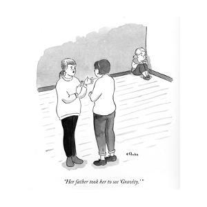 """""""Her father took her to see Gravity."""" - Cartoon by Emily Flake"""