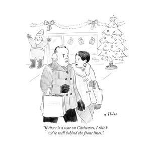 """""""If there is a war on Christmas, I think we're well behind the front lines - Cartoon by Emily Flake"""