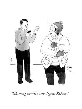 """Oh, hang on—it's zero degrees Kelvin."" - Cartoon by Emily Flake"