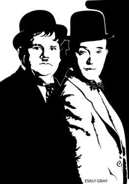 Laurel and Hardy by Emily Gray