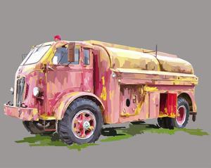 Painterly Firetruck by Emily Kalina