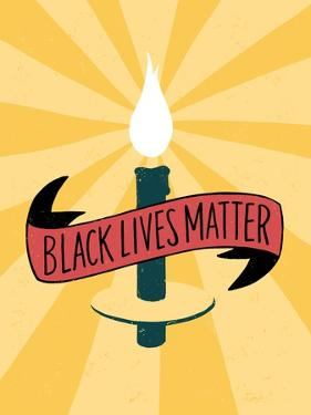 Black Lives Matter - Candle by Emily Rasmussen