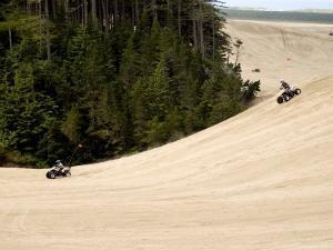 4X4 ATV Racing on Sand Dunes of Oregon Dunes Nra, Honeyman State Park by Emily Riddell