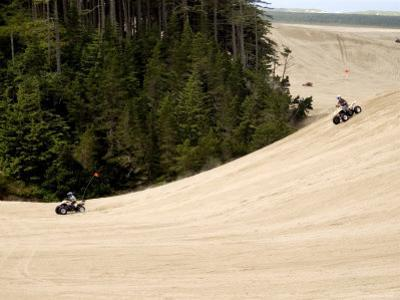4X4 ATV Racing on Sand Dunes of Oregon Dunes Nra, Honeyman State Park