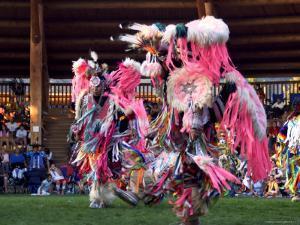 Adult Men in Team Dancing, Kamloops Pow Wow by Emily Riddell