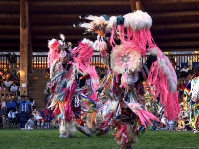 Adult Men in Team Dancing, Kamloops Pow Wow