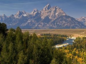 Grand Teton Range from Snake River Overlook by Emily Riddell
