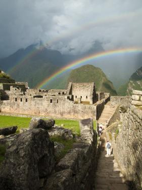 Rainbow over Incan Ruins of Machu Picchu by Emily Riddell