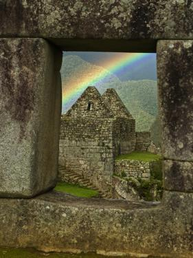 Rainbow Seen Through Temple of Three Windows by Emily Riddell