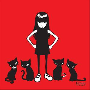 Emily and Posse by Emily the Strange