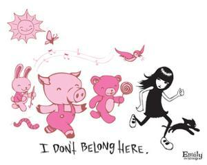 I Don't Belong Here by Emily the Strange