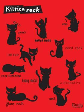 Kitties Rock by Emily the Strange