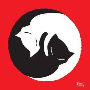 Yin Yang Kitties by Emily the Strange