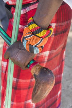 Africa, Kenya, Samburu National Reserve. Tribal handicrafts, jewelry. by Emily Wilson