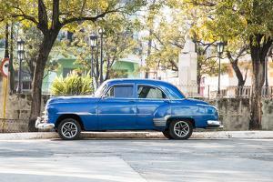 Blue 1951 Chevrolet Vintage Car on Streets of Regla, Cuba by Emily Wilson