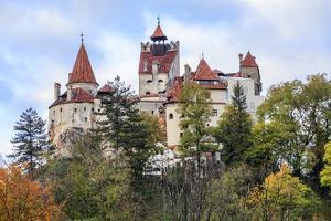 Bran, Romania. Castle Bran, Exterior. Dracula's Castle. by Emily Wilson