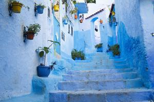 Chefchaouen, Morocco. Narrow Alleyways for Foot Traffic Only by Emily Wilson