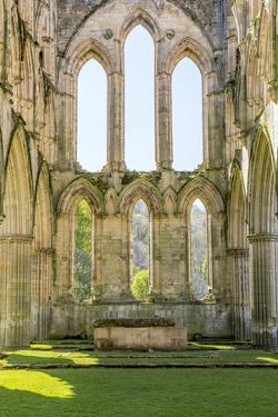 England, North Yorkshire, Rievaulx. 13th c. Cistercian ruins of Rievaulx Abbey. English Heritage an by Emily Wilson