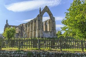 England, North Yorkshire, Wharfedale, Bolton Abbey, Bolton Priory. Grounds and ruins of 12th centur by Emily Wilson