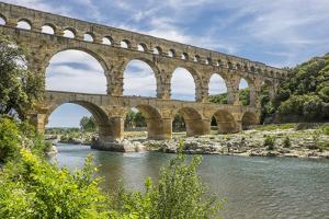 France, Nimes, the Pont Du Gard Is an Ancient Roman Aqueduct Bridge That Crosses the Gardon River by Emily Wilson