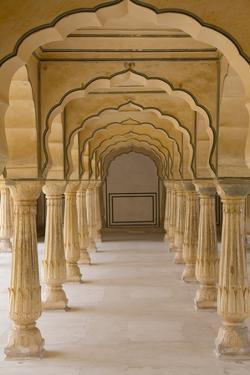 India, Rajasthan, Jaipur Amber Fort. Arches by Emily Wilson