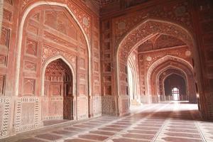 India, Uttar Pradesh, Agra. the Mosque on the Grounds of the Taj Mahal by Emily Wilson