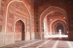 India, Uttar Pradesh, Agra. the Mosque on the Grounds of the Taj Mahal by Emily Wilson