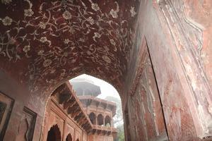India, Uttar Pradesh, Agra. the Mosque's Arches by Emily Wilson