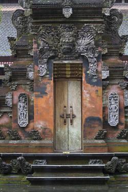 Indonesia, Bali. Hindu Temple Door at Pura Tirta Empul Temple by Emily Wilson