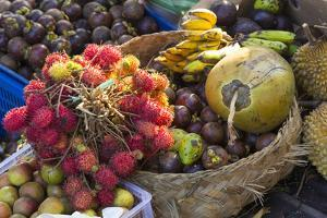 Indonesia, Bali. Morning Flowers, Fruit and Vegetable Market by Emily Wilson