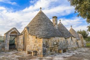 Italy, Region of Apulia, Province of Bari, Itria Valley, Alberobello. A trullo house by Emily Wilson