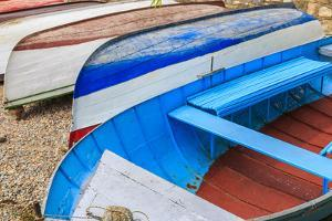Macedonia, Ohrid, Close Up of Boats on the Shore of Lake Ohrid by Emily Wilson