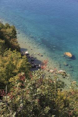Macedonia, Ohrid, Looking Down into the Blue Water of Lake Ohrid by Emily Wilson