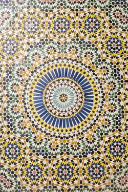 Morocco, Agdz, the Kasbah of Telouet, Zelij Moroccan Tile Work by Emily Wilson