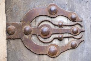 Morocco, Rabat, Sale, Kasbah Des Oudaias, Elaborate Moroccan Door Hinges by Emily Wilson