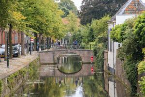 Netherlands, Holland, Utrecht Province, Amersfoort. Inner City Canals by Emily Wilson