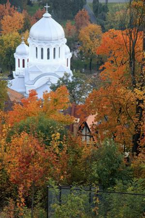 Romania, Brasov, Romanian Orthodox Church, Buna Vestire. by Emily Wilson