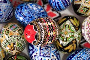 Romania. Bukovina, Moldovita, Painted Easter egg by Emily Wilson